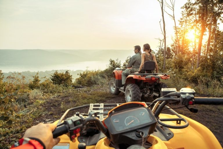 ATVs on top of a mountain