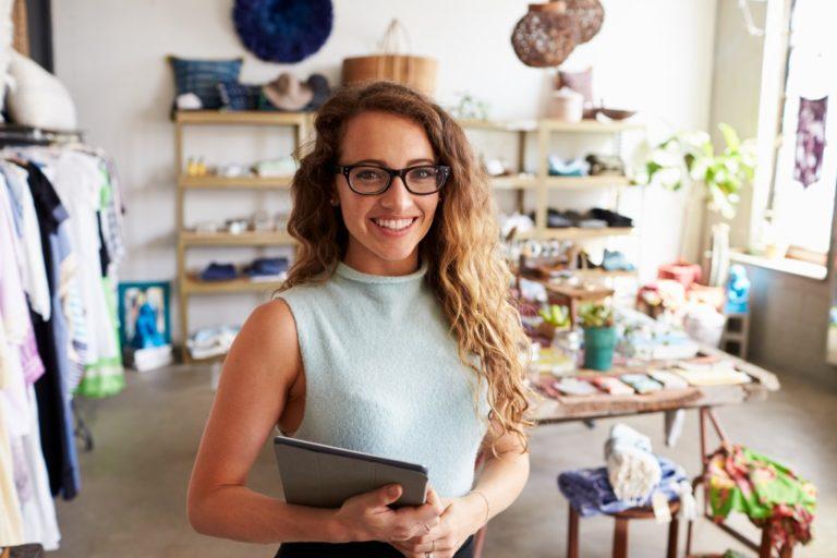 female botique shop owner