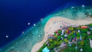 a beach in the Philippines